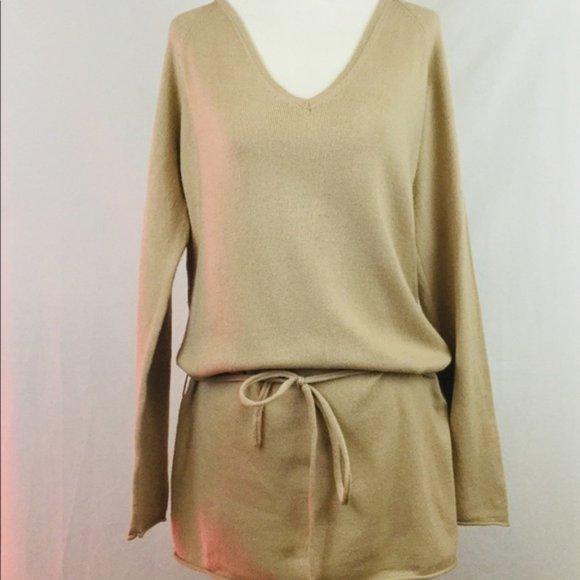 3/$30🌺 Venus Front Tie waist Long sleeved Tunic